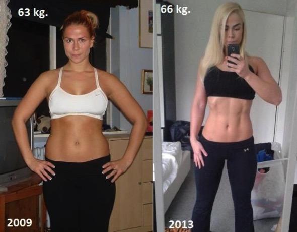 63キロと66キロの女性